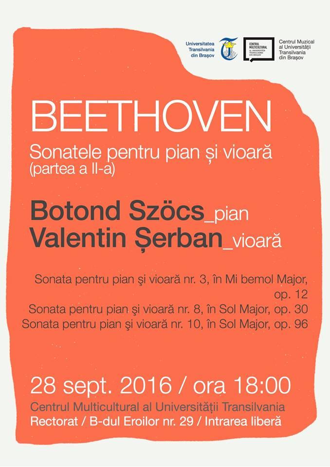 recital extraordinar de vioară și pian cu Botond Szöcs și Valentin Șerba