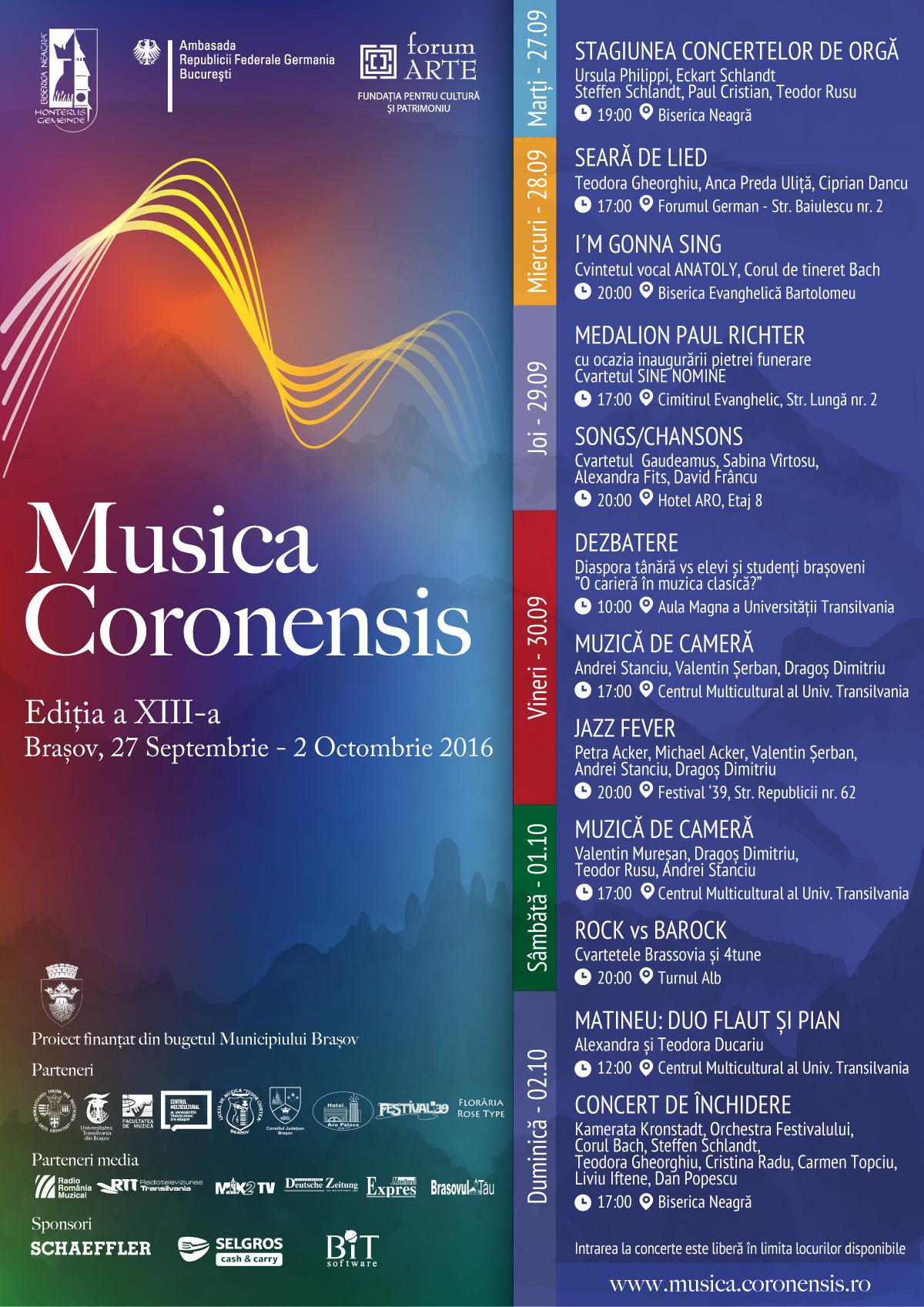 Festivalul Musica Coronensis 2016